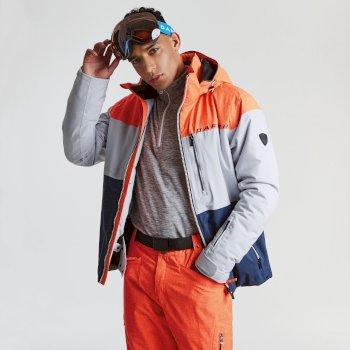 Roamer Pro Herren-Skijacke Vibrant Orange Cyber Grey Outerspace Blue