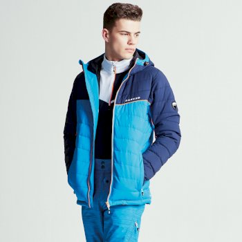 Slalom Herren-Skijacke blau