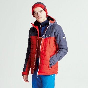 Slalom Herren-Skijacke rot-grau