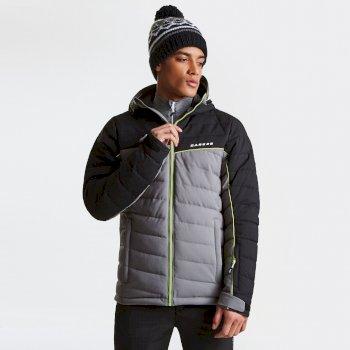 Slalom Herren-Skijacke grau-schwarz