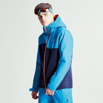 Declarate Herren-Skijacke Outerspace Blue Methyl Blue Texture