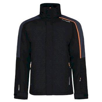 Dare2b Men's Aligned Ski Jacket Black Ebony Grey