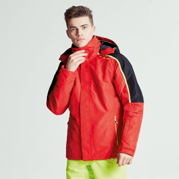 Dare2b Men's Aligned Ski Jacket Code Red Black