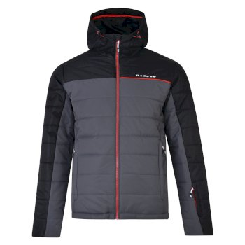 Dare2b Men's Forceful Ski Jacket Black Ebony Grey