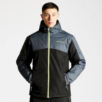 Dare2b Men's Icemist Ski Jacket Ebony Grey Black