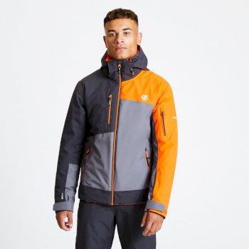 Travail Pro - Herren Skijacke Aluminium Grey Ebony Clementine