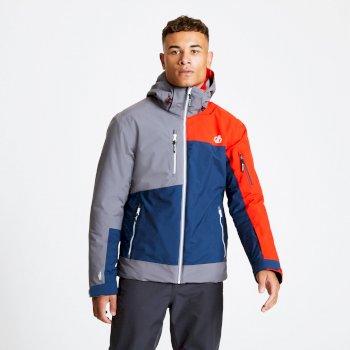 Travail Pro - Herren Skijacke Admiral Blue Aluminium Grey Fiery Red