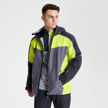Intermit - Herren Skijacke Tiefschwarz/Limone