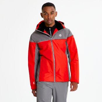 Cohere - Herren Skijacke Fiery Red Aluminium Grey