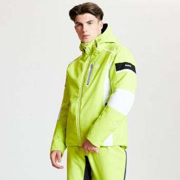 Edge Out Black Label - Herren Skijacke Citron Lime