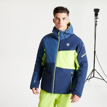 Supercell wasserdichte, isolierte Skijacke mit Kapuze für Herren Blau