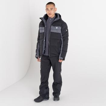 Jenson Button Kollektion - Denote wasserdichte, isolierte Skijacke mit Kapuze für Herren Schwarz