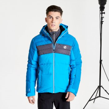 Dare 2b Men's Denote Waterproof Insulated Hooded Ski Jacket - Petrol Blue Methyl Blue