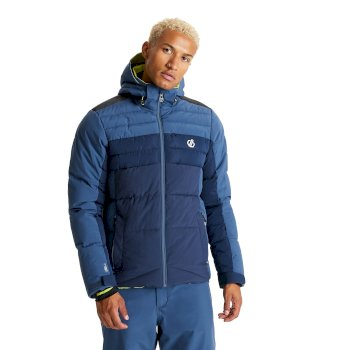Dare 2b Men's Denote Waterproof Insulated Hooded Ski Jacket - Dark Denim Nightfall Navy