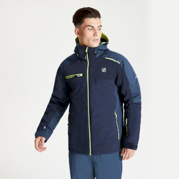Dare 2b Men's Intermit II Waterproof Insulated Hooded Ski Jacket - Nightfall Navy Dark Denim