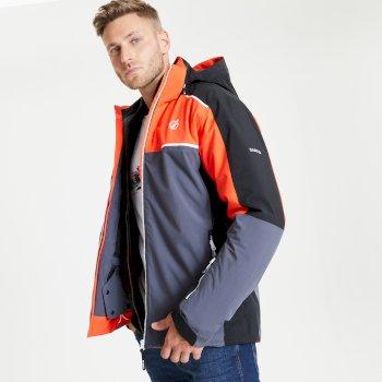 Jenson Button Kollektion - Intermit II wasserdichte, isolierte Skijacke mit Kapuze für Herren Rot
