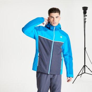Observe wasserdichte, isolierte Skijacke mit Kapuze für Herren Blau