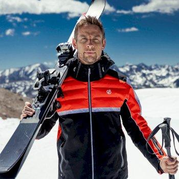 Speed Out wasserdichte, isolierte Skijacke für Herren Orange