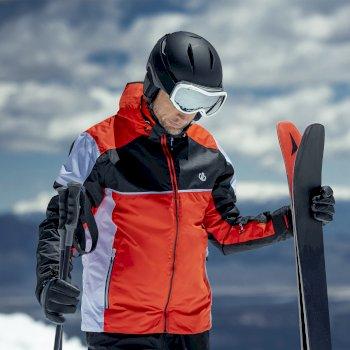 Incarnate wasserdichte, isolierte Skijacke mit Kapuze für Herren Orange