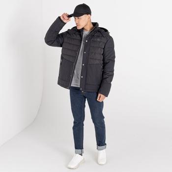 Jenson Button Kollektion - Endless II wasserdichte, isolierte Jacke mit Kapuze für Herren Schwarz