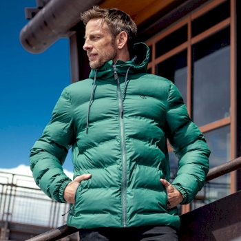Jenson Button Kollektion - Switch Up wasserdichte, isolierte Baffle-Jacke mit Kapuze für Herren Grau