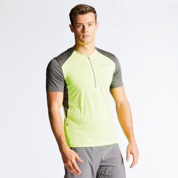 Dare 2b Men's Attest Workout T-Shirt - Fluro Yellow Charcoal