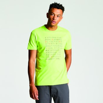 Men's Verses T-Shirt - Lime Punch