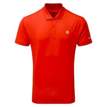 Delineate Leichtes Polo-Shirt Für Herren Rot