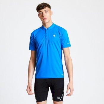 Delineate leichtes Polo-Shirt für Herren Blau