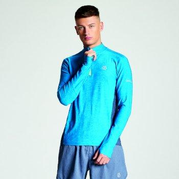 Reacticate - Herren Langarm-Shirt - Reißverschluss Atlantikblau