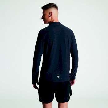 Reacticate - Herren Langarm-Shirt - Reißverschluss Schwarz