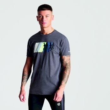 Dynamism Graphic T-Shirt für Herren Charcoal Grey