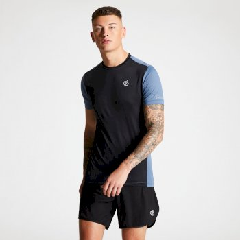Underlie Active T-Shirt für Herren Black Meteor Grey