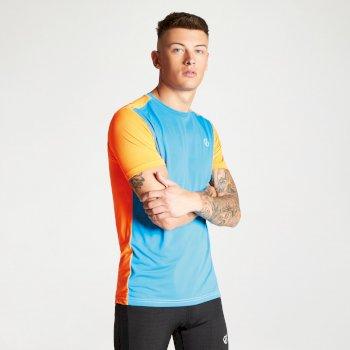 Underlie Active T-Shirt für Herren blau-orange