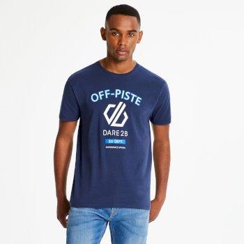 Strife - Herren T-Shirt mit Grafik-Print Admiral Blue Marl