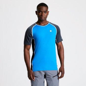 Conflux Woll-T-Shirt Für Herren Blau