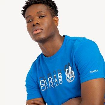 Focalize Dare2b Print T-Shirt für Herren Blau