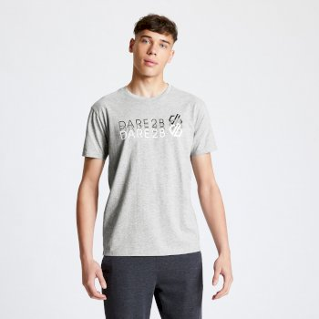 Focalize Dare2b Print T-Shirt für Herren Grau