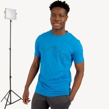 Differentiate Graphic T-Shirt Für Herren Blau
