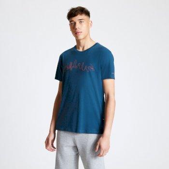 Divide Graphic Print T-Shirt für Herren Blau