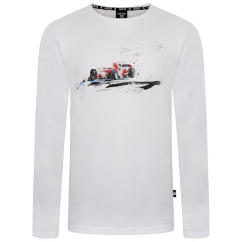 Dare 2b Men's Overdrive Long Sleeved Graphic T-Shirt - White