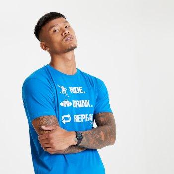 Devout II Grafik-T-Shirt für Herren Blau