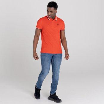 Jenson Button Kollektion - Precise Poloshirt Für Herren Orange