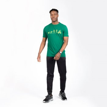 Integral Grafik-T-Shirt Aus Bio-Baumwolle Für Herren Grün