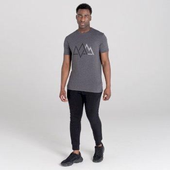 Dare 2b Men's Allusion Organic Cotton Graphic T-Shirt  - Charcoal Grey Marl