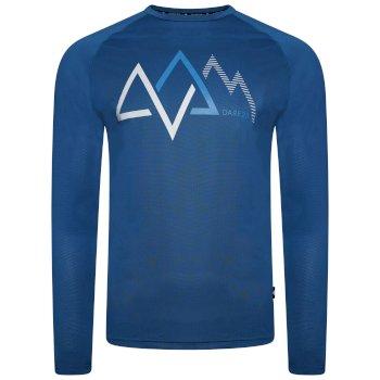 Righteous Langärmliges Grafik-T-Shirt Für Herren Blau
