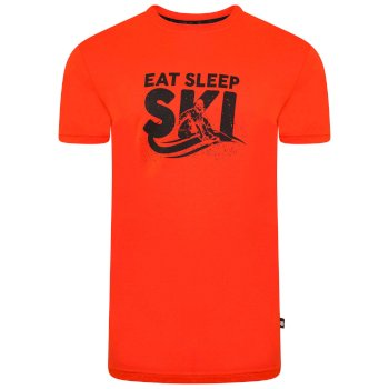 Jenson Button Kollektion - Dubious kurzärmeliges Grafik-T-Shirt für Herren Orange