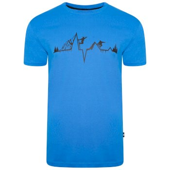 Jenson Button Kollektion - Dubious kurzärmeliges Grafik-T-Shirt für Herren Blau