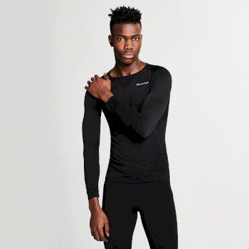 Zonal III Langarm-Unterhemd für Herren schwarz
