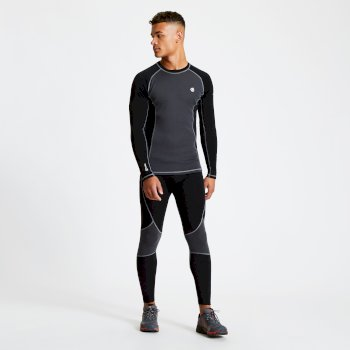 Advanced - Herren Baselayer-Set mit Wolle Black Ebony